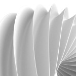 White Abstract Geometric Figure Background. 3d Render Illustration